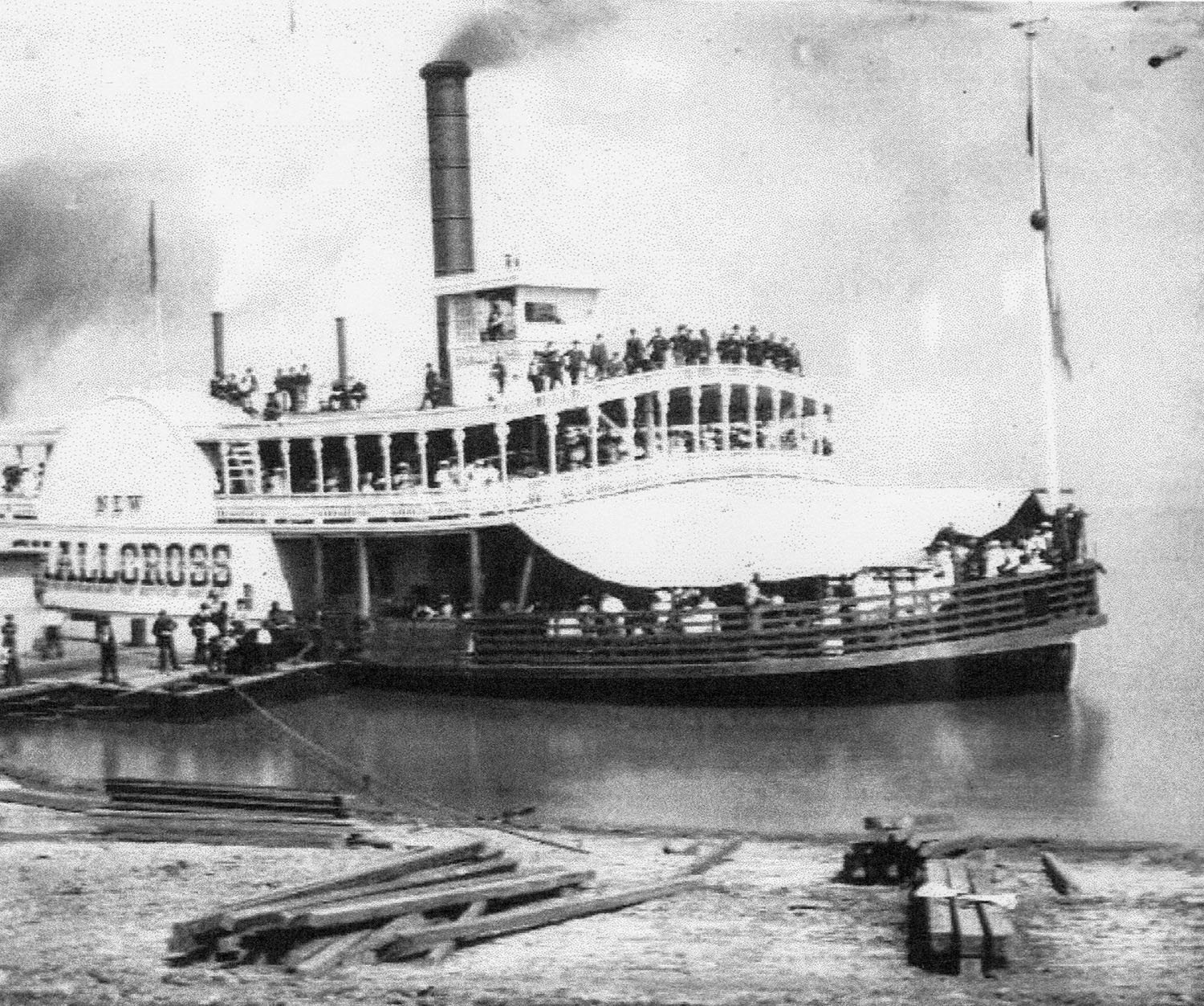 The ferry New Shallcross was built in 1877 from identical plans for the John Shallcross. (Keith Norrington collection)