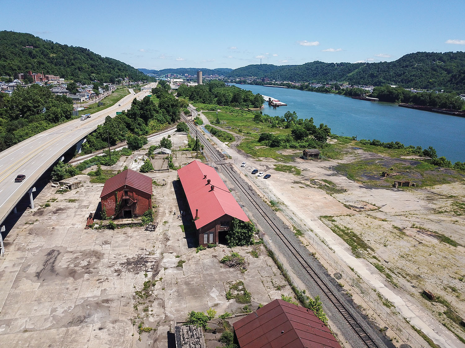 Mountaineer Products Inc., doing business as MPR Supply Chain Solutions, has purchased a 50-acre Ohio River site with rail frontage on the Wheeling & Lake Erie and Norfolk Southern railways to use as part of its transloading business. (Photo by Sherri Butler)