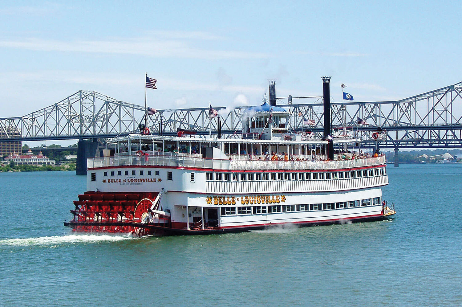 The steamboat Belle of Louisville, at 107 years old, has begun its 2021 season, offering passengers cruises on the Ohio River. The organization's administrators have sought additional funding because of budget shortfalls, in part because of the COVID-19 pandemic. (Photo courtesy of Belle of Louisville Riverboats)