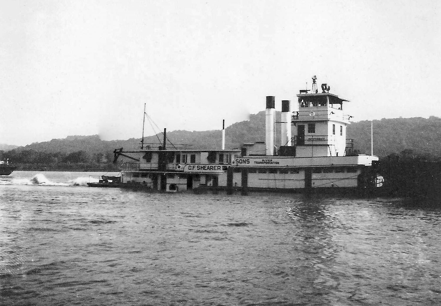 The Geo. T. Price Was The First Diesel Line-Haul Towboat