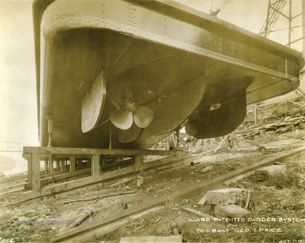The Ward Patented Rudder System on the Geo. T. Price. (Dan Owen/Boat Photo Museum)
