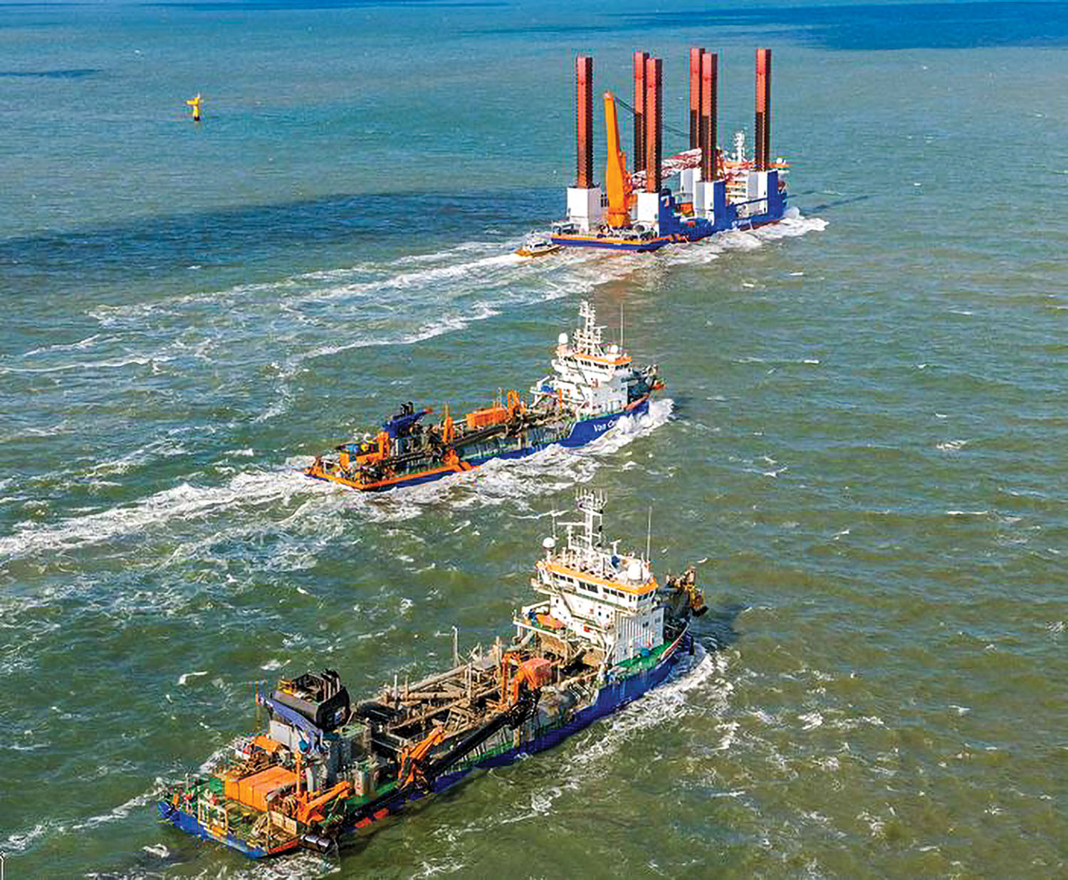 As part of a three-year agreement, ABB Turbocharging will provide maintenance support and optimization across Van Oord's dredge fleet. (Photo courtesy of Van Oord)