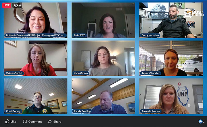Screenshot from the April 14 Who Works The Rivers online career education event, which had more than 1,200 student registrants plus viewers on Facebook and YouTube.
