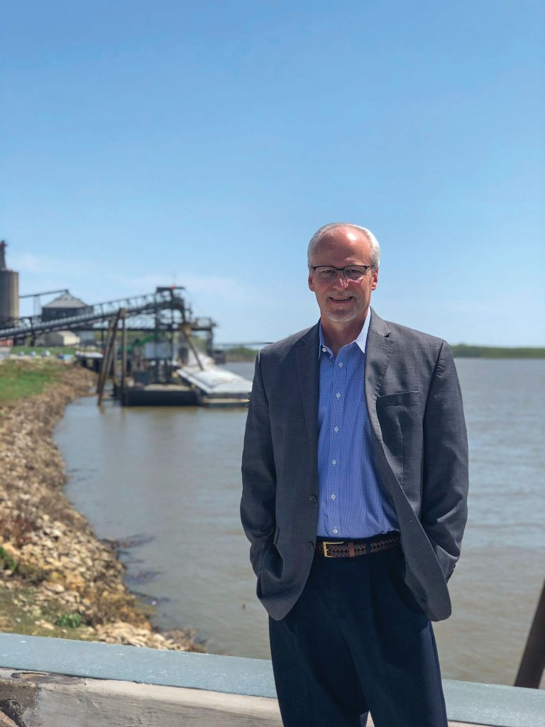Phil Wilzbacher, the director of Ports of Indiana-Mount Vernon, is retiring this month after 19 years of service. That makes him the longest serving port director in the statewide port authority's 60-year history. (Photo courtesy of Ports of Indiana)