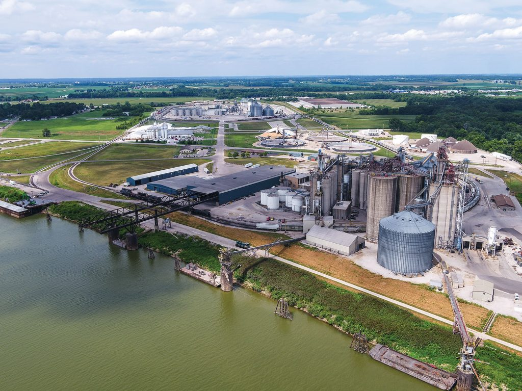The Port of Mount Vernon, in southwest Indiana, is the seventh largest inland port by freight tonnage in the United States. Phil Wilzbacher is retiring as the port's director as of April 20. (Photo courtesy of Ports of Indiana)