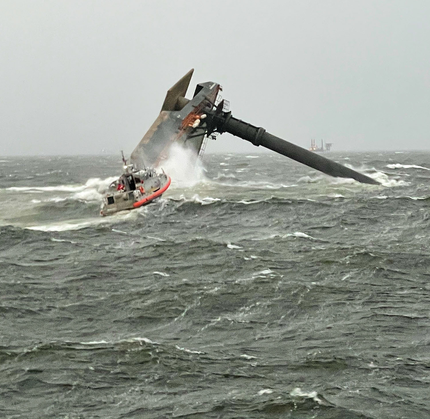 Liftboat Capsizes In Gulf Of Mexico, Coast Guard Conducts Search And Rescue