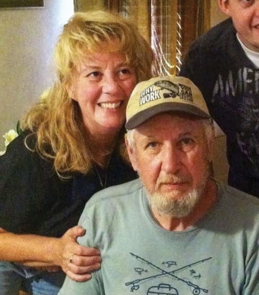 Rhonda Roof with her father, William Glen.