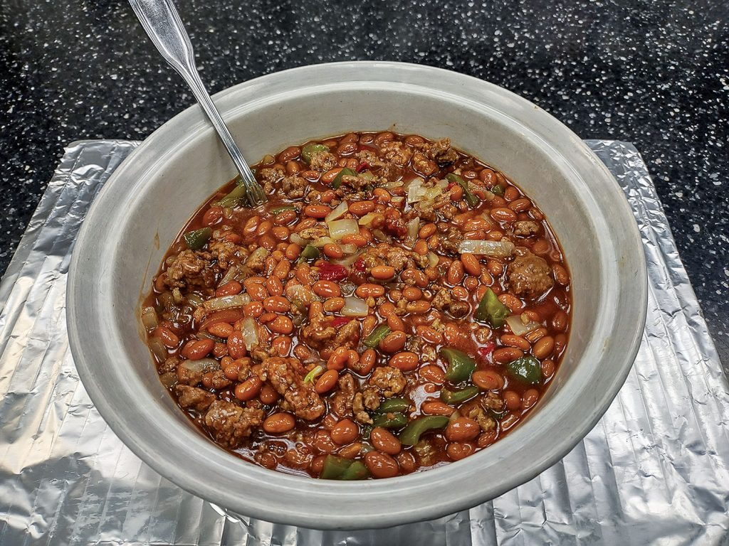 Baked Beans With Beef.