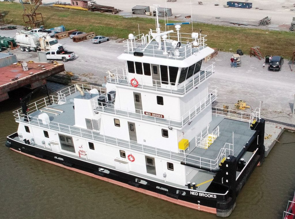 The Ned Brooks is the fourth in a series of 15 towboats being built by C&C Marine & Repair for Maritime Partners. (Photo courtesy of C&C Marine & Repair)