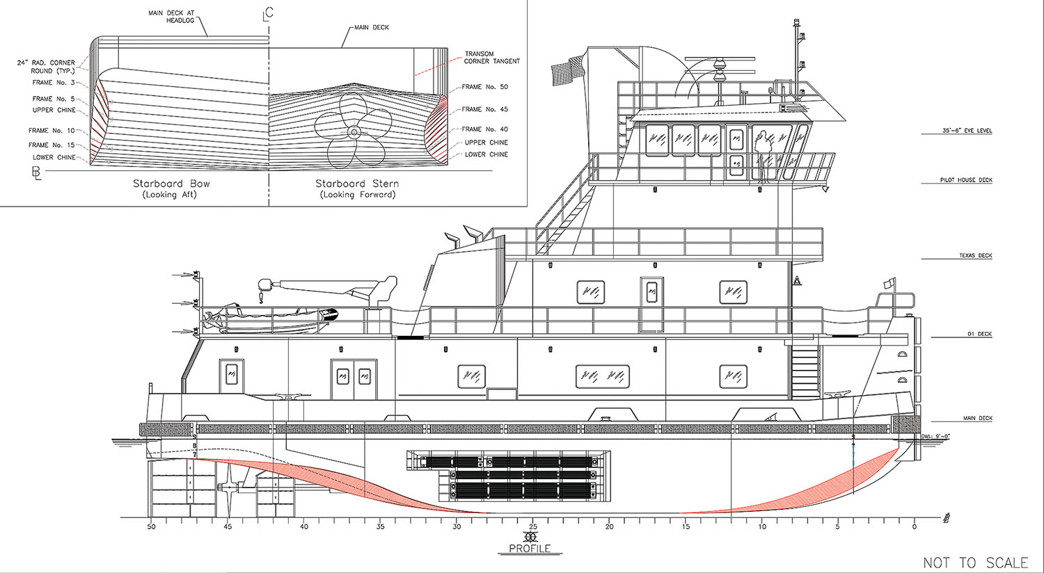 Graphic from Vessel Repair shows patented hull design.