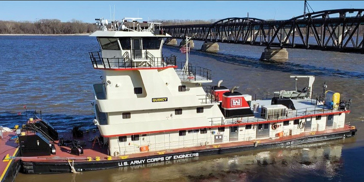 Rock Island District Christens Towing Vessel