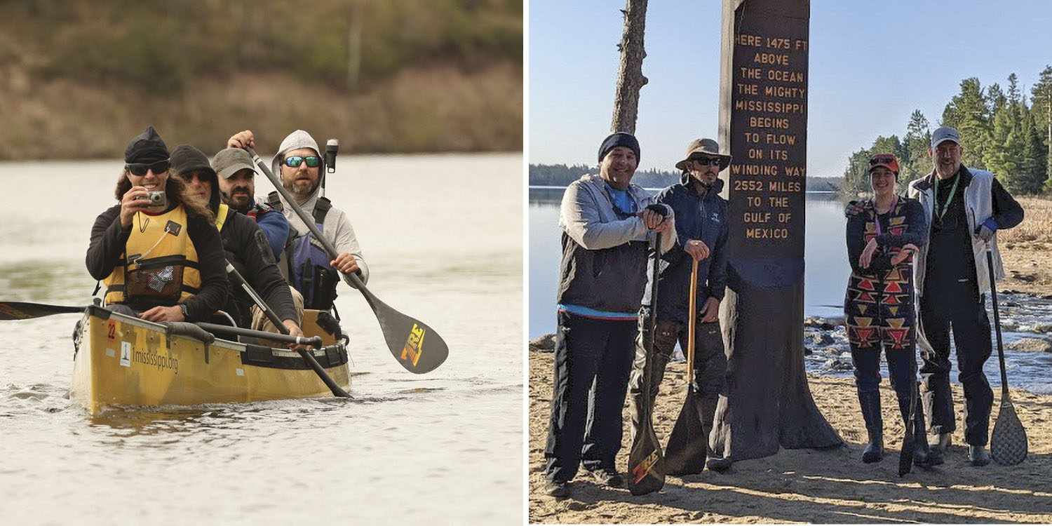 Team MSR and Team MMZero both hope to own the record for paddling the length of the Mississippi River.