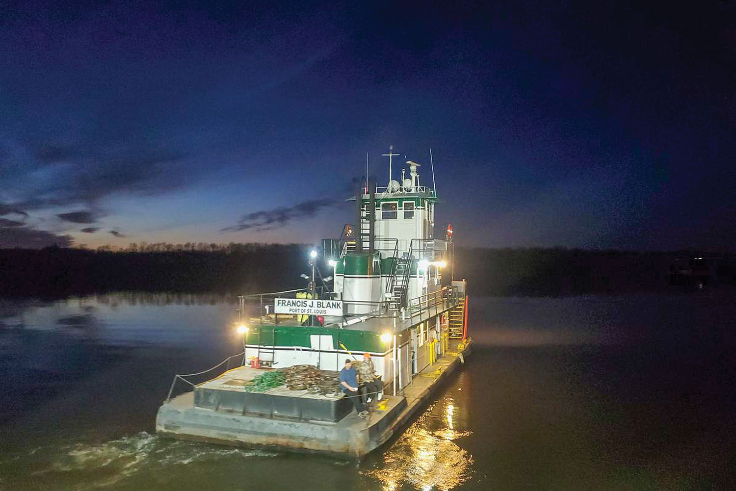 The mv. Francis J. Blank, built in 1966, is being completely restored at LD Marine in Amelia, La.