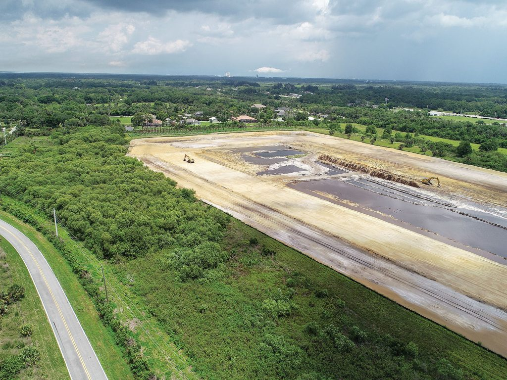 BV-11 is a dredged material management area in Brevard County, Fla., that is under construction on the Atlantic Intracoastal Waterway.
