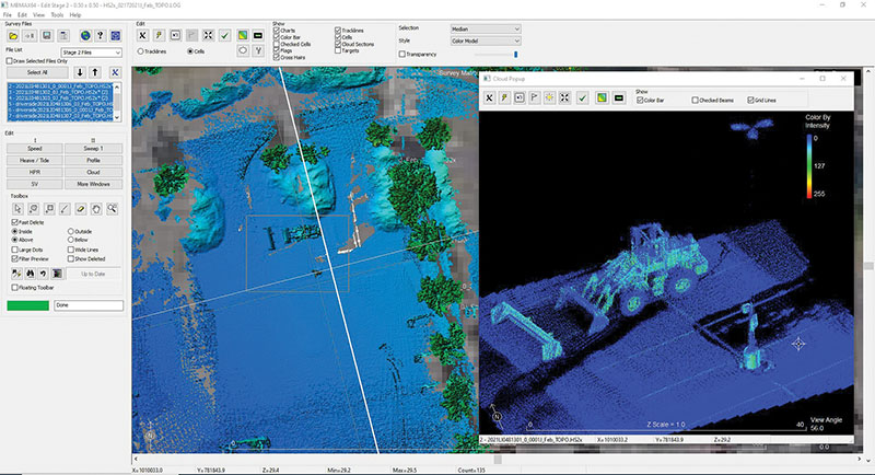 Processing LiDAR data within HYPACK provides confidence in the final results.