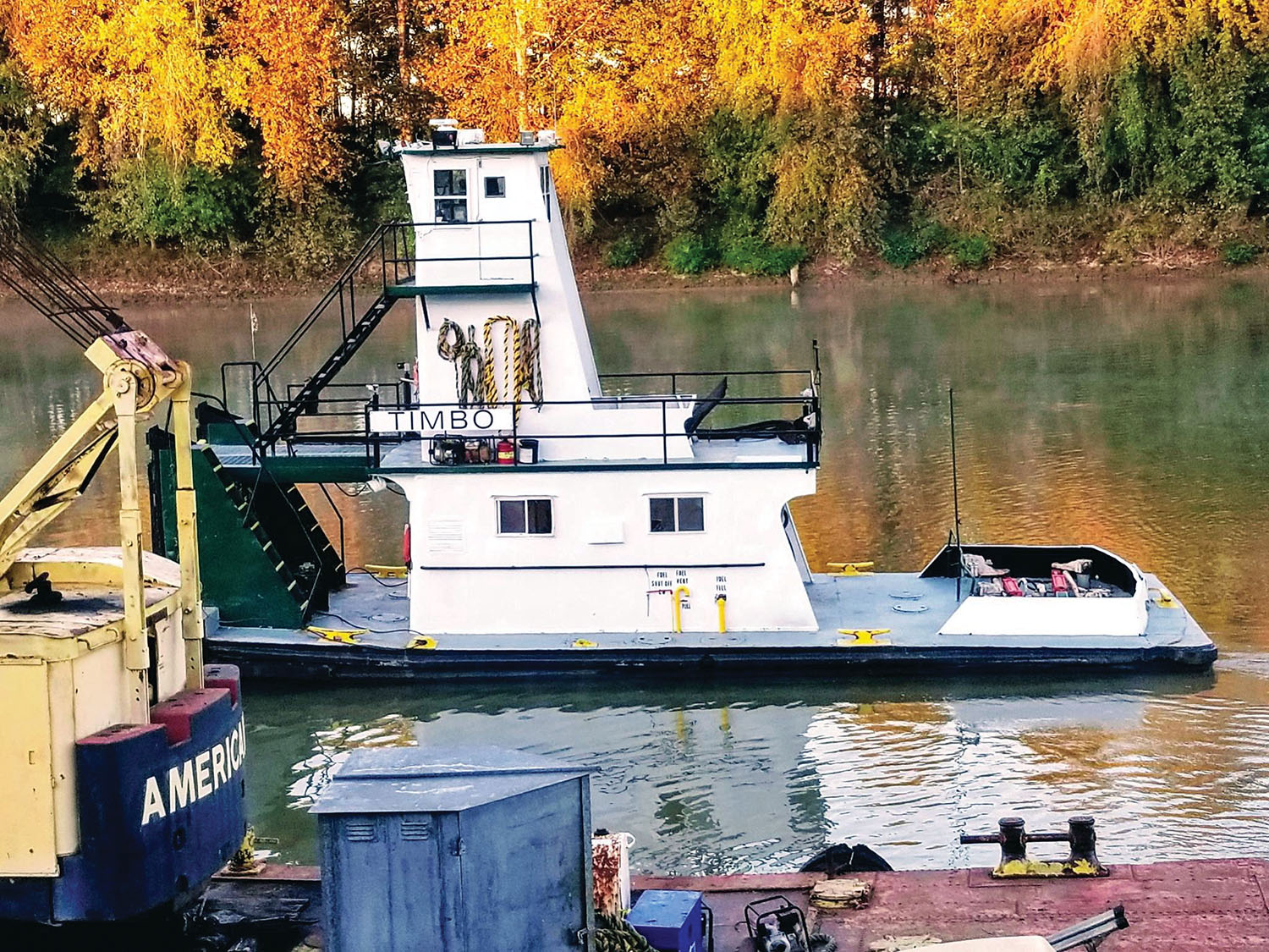 Wabash Marine has put the mv. Timbo up for sale, following the end of the coal-barging business on the Green River.