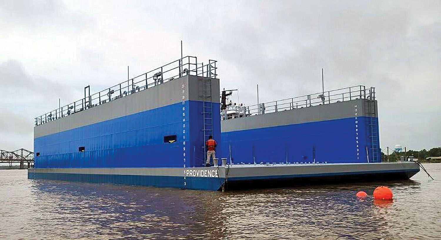 New 500-ton drydock was designed by JMS Naval Architects.