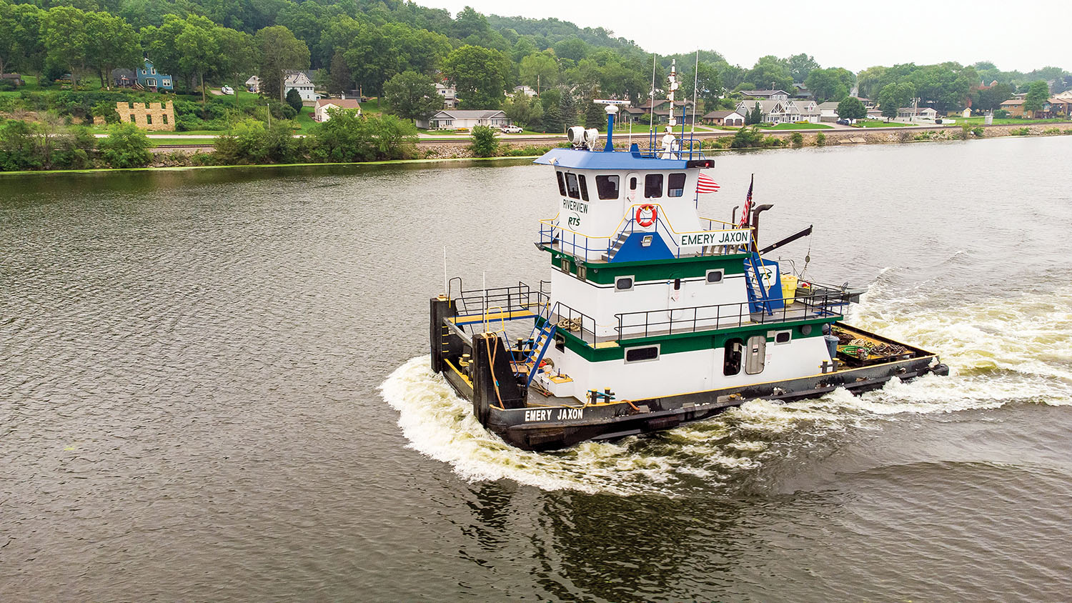 The mv. Emery Jaxon is the eighth vessel in the Riverview Boat Store fleet. (Photo by Mike Yuhas)