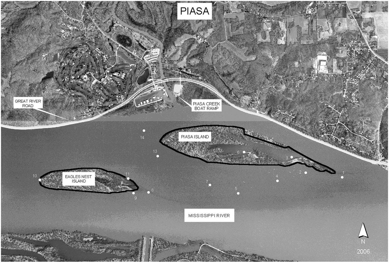 Piasa Island project location map.