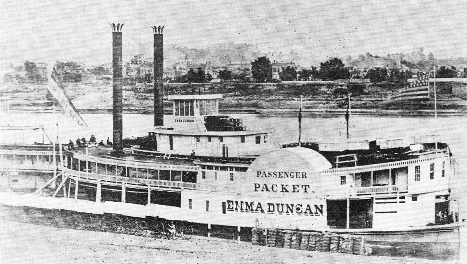 The Emma Duncan at the wharf. (Keith Norrington collection)