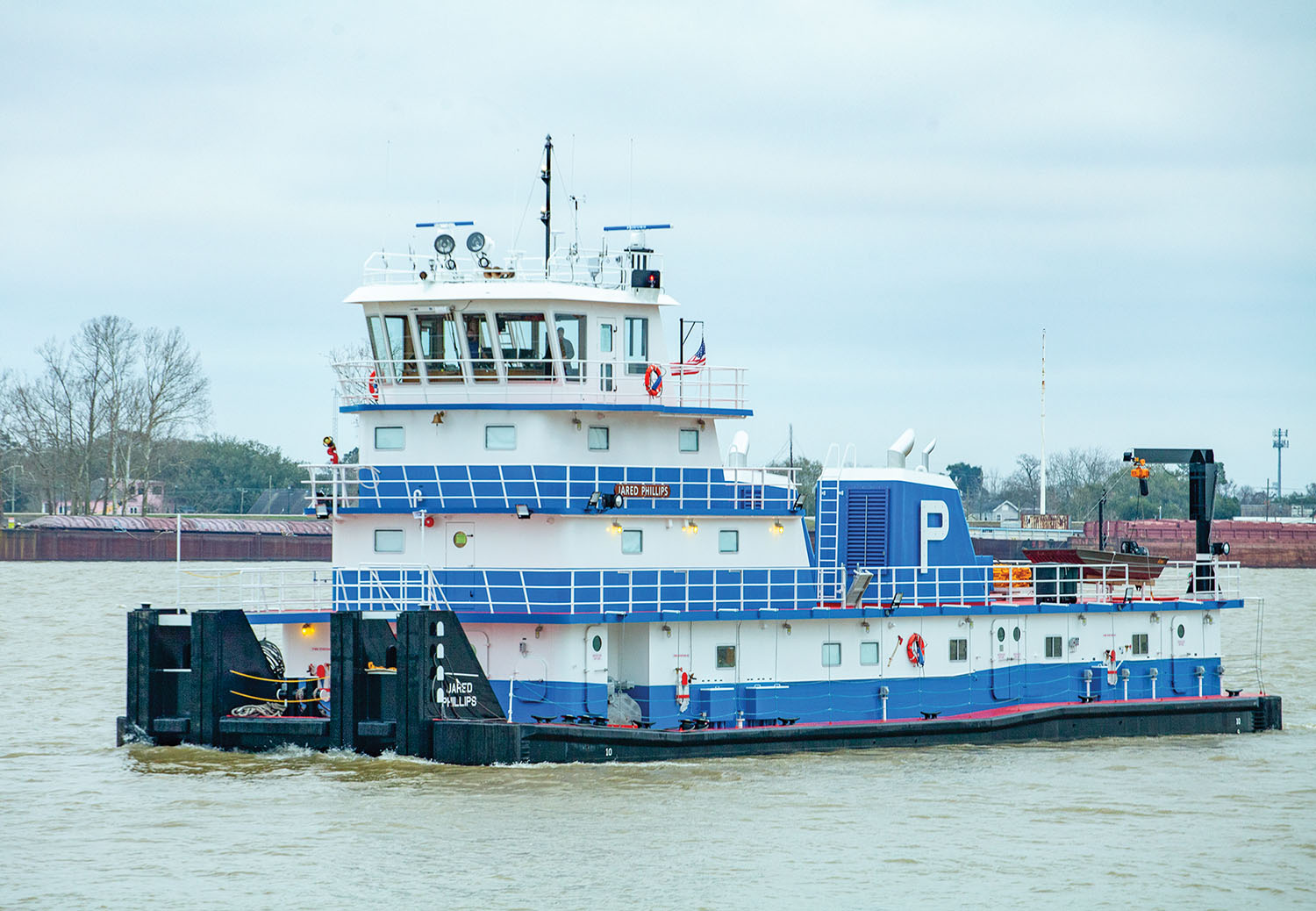 Built by FMT Shipyard, the mv. Jared Phillips is named for the director of business operations for Parker Towing. (Photo by Frank McCormack)