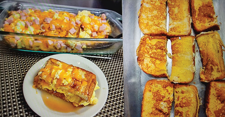 Breakfast lasagna.