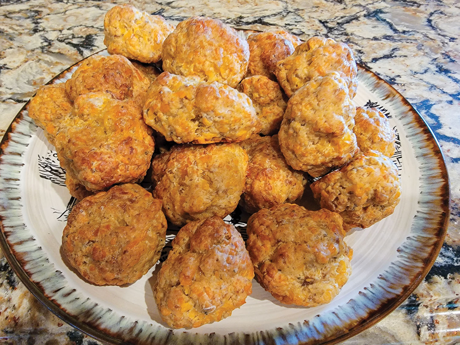 Sausage and cheese breakfast balls.