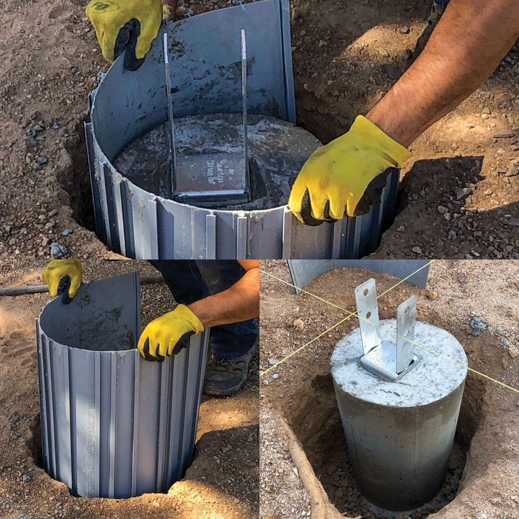 Form-A-Tube can be used for casting concrete columns and posts as well as repair of existing columns and pilings. (Photo courtesy of Form-A-Tube)
