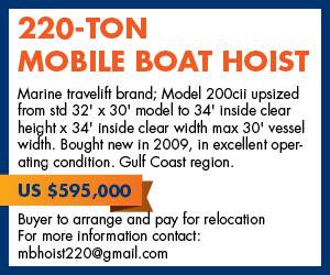 220 Ton Mobile Boat Hoist