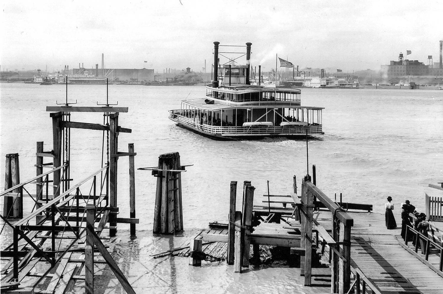 Caption for photo: The New Orleans ferry boat Thomas Pickles lasted for 73 years. (Keith Norrington collection)