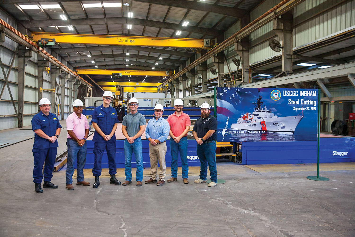 Eastern Cuts Steel For Third Offshore Patrol Cutter